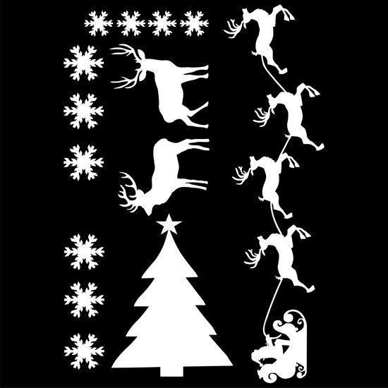 Uitbreidingsset stickers Kerst, HERBRUIKBAAR