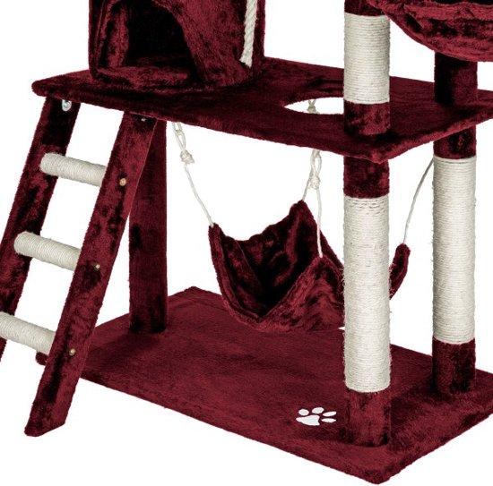 Katten kitten krabpaal 141cm bordeaux 401856