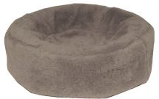 Bia fleece hoes hondenmand 0 50x50x12cm rond taupe
