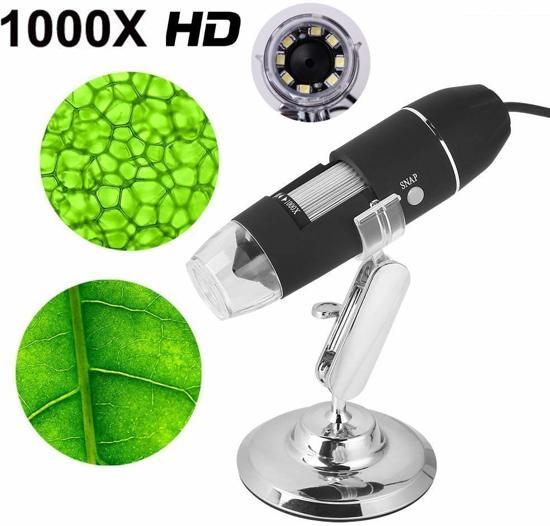 Digitale Microscoop met wel 1000 x zoom en LED verlichting. Geweldige gadget!