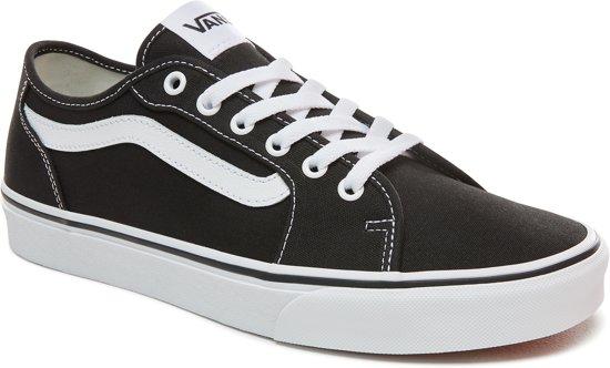 Black Sneakers 43 white canvas Heren Filmore Vans Decon Maat xpfn0