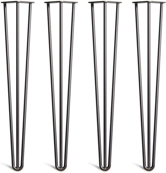 bol.com | Hairpin legs – zwart – set van 4 stuks ...