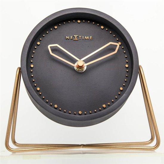 officieel speciale promotie laagste korting NeXtime Cross Table - Klok - Stil Uurwerk - Rond - Ø17,5 cm - Zwart/Koper