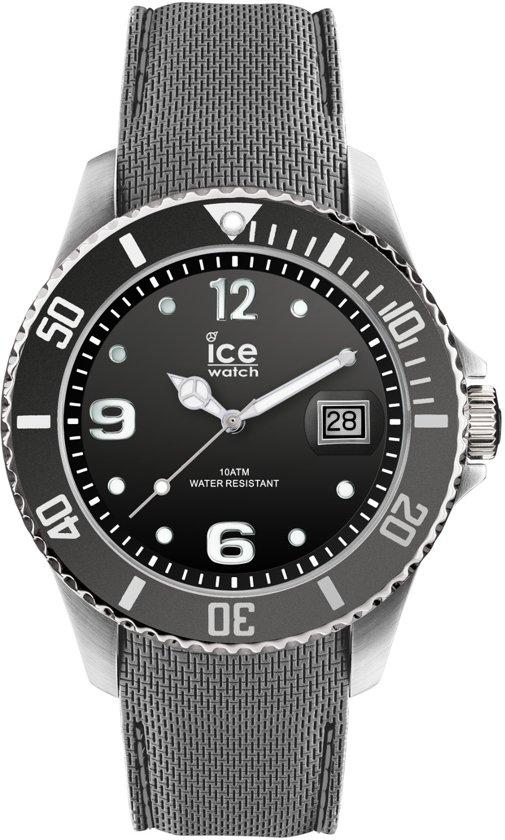 Ice-Watch Ice Steel IW015772 Horloge -Silliconen - Grijs - Ø 44 mm
