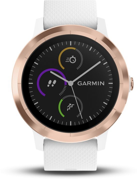 Garmin Vivoactive 3 - smartwatch - Ø 43 mm - Rosegoud/wit