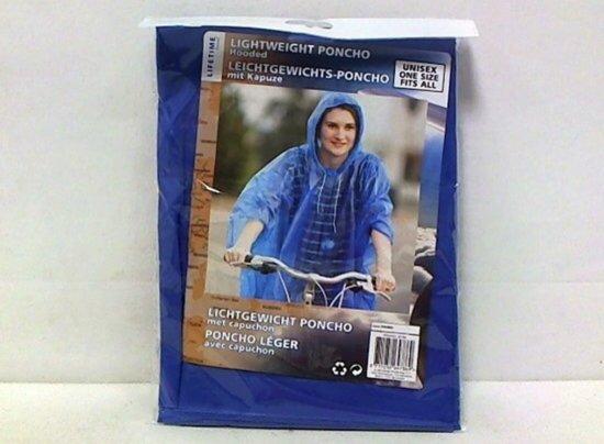 Lifetime Poncho Lightweight - Blauw - One size