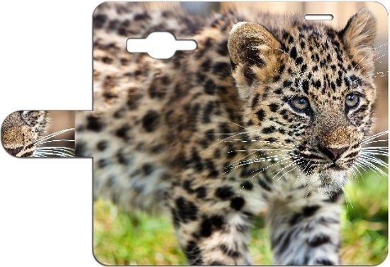 Samsung Galaxy J5 Uniek Design Hoesje Baby Luipaard in Autre-Eglise