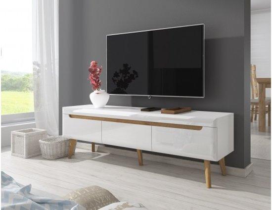 Bol.com meubella tv meubel nebraska wit eiken 160 cm