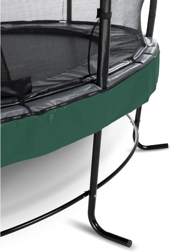 EXIT Elegant Premium trampoline ø427cm met veiligheidsnet Deluxe - groen