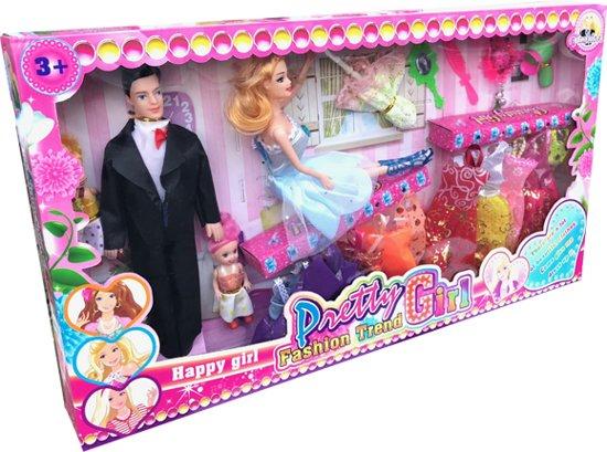 Barbiepoppen Set Happy Pretty Girl MVK