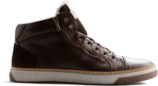 45 Travelin Winter Sneaker Leer gevoerde Maat Casual Nordby Donkerbruin qBWP8qaO