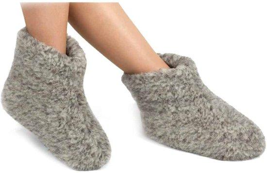 Woolwarmers Chaussons De Laine Taille 42 - Gris Marron oMoNU3a