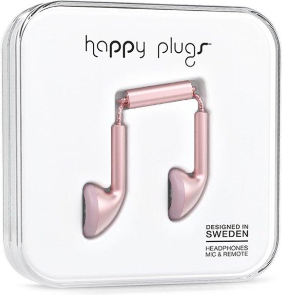Happy Plugs Earbud - In-ear oordopjes - Rozegoud