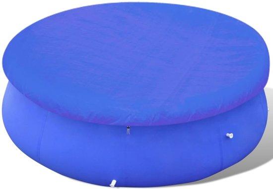vidaXL Zwembadafdekking PE rond 460 cm 90 g/m²