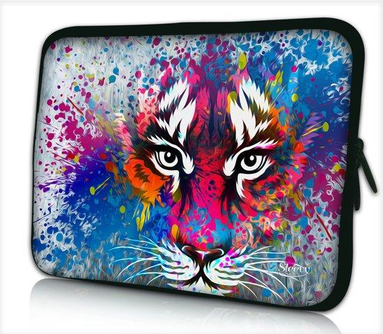 bol   laptophoes 14 inch tijger artistiek - sleevy - laptop