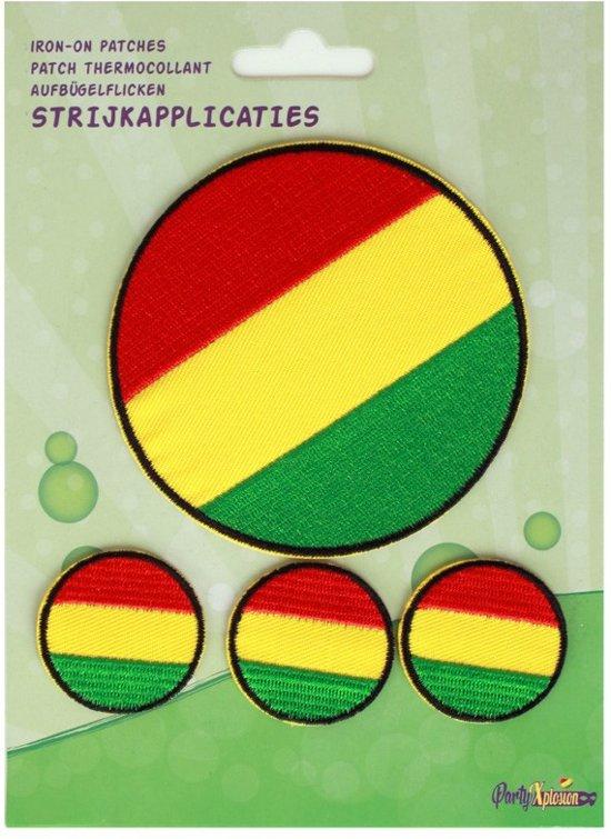 Applicaties 4 stuks op kaart Limburg cirkels