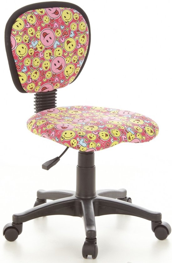 Bureaustoel Met Paardenprint.Hjh Office Kiddy Top Kinder Bureaustoel Roze Geel
