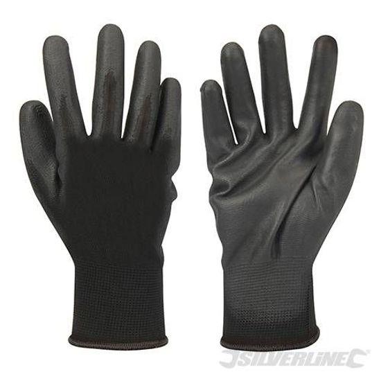 Silverline Handschoen met zwarte handpalm
