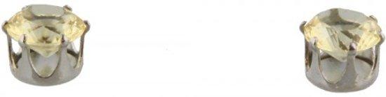 Oorbellen met Kristal - Magneet : geen gaatjes nodig - Geel - Dielay