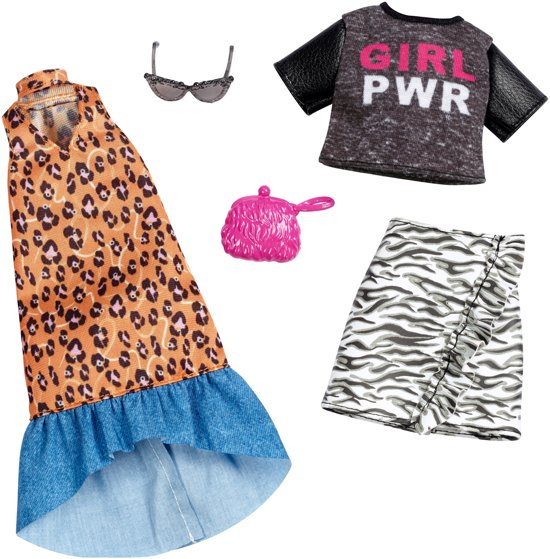 Barbie Kledingsetje Girl Power T-shirt En Lange Jurk - Set van 2 Outfits