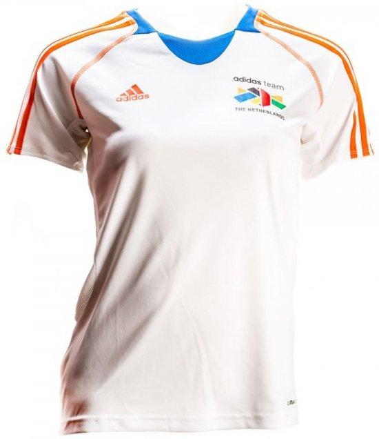 | Adidas Team Nederland Shirt Dames Witoranje Maat Xs