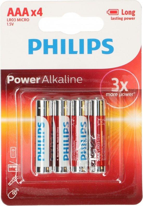 Philips 4 stuks AAA batterijen