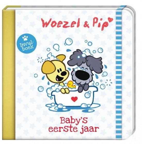 Baby's Eerste Jaar Woezel & Pip 2 - Invuldagboek  - Sluiting met Elastiek - 21 x 21,5 x 1,7 cm