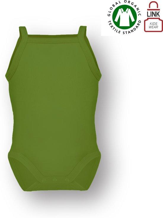 TOSKE meisjes romper met spaghettibandje - Lime groen - Maat 74/80
