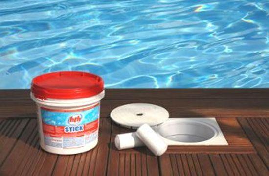 HTH Chloor Stick - 4,5 kg - Chloor - Onderhoud - Zwembadwater - Tablet - Zwembad