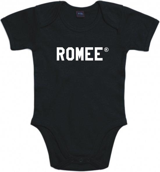 Baby rompertje Romee | Korte mouw 74/80 zwart