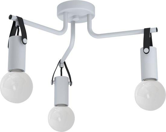 EGLO Apricale Plafondlamp - 3 lichts - Ø46 cm - E27 - Grijs - Zwart