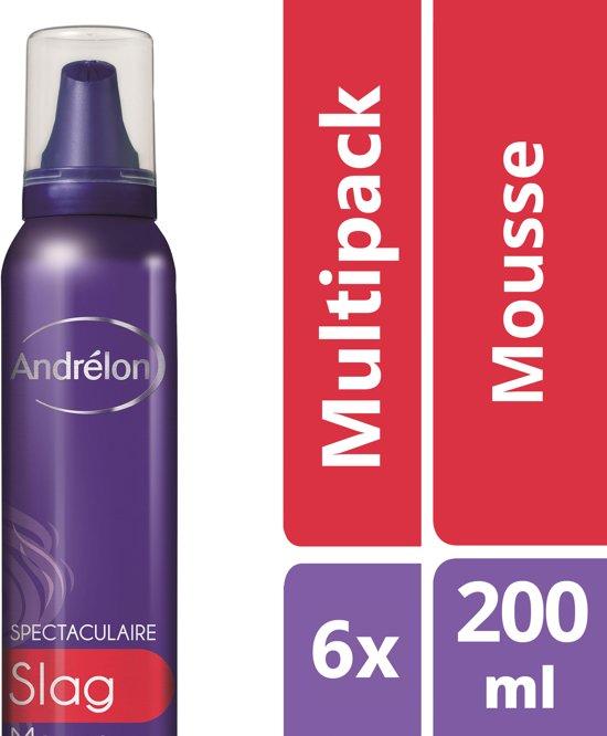 Andrélon Spectaculaire Slag Haarmousse - 6 x 200 ml - Voordeelverpakking