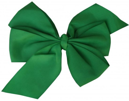 Jessidress Meisjes Haarclip met grote Haarstrik van 16 cm - Groen