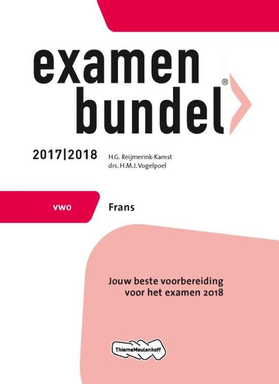 Examenbundel vwo Frans 2017/2018