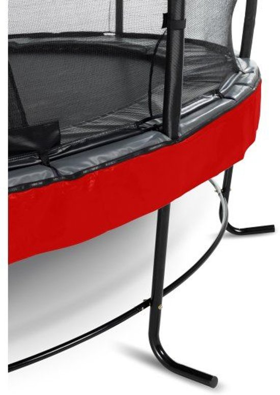 EXIT Elegant Premium trampoline ø427cm met veiligheidsnet Economy - rood