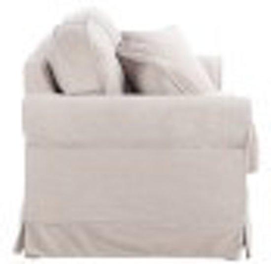 Duverger Velvet - Sofa - 2-zitbank -fluweel - beige - kussens