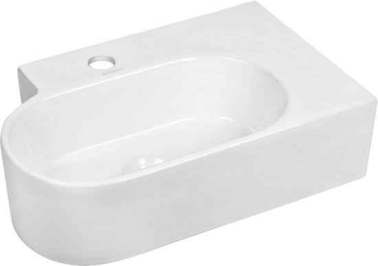Hoek Wasbak Badkamer : Bol.com kerra kr 607 hoek wastafel 465x30cm wit