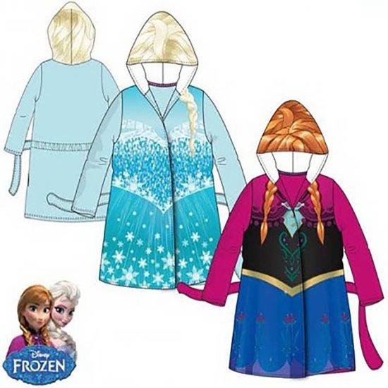 Disney Frozen Elsa badjas - capuchon - lichtblauw - maat 4/104