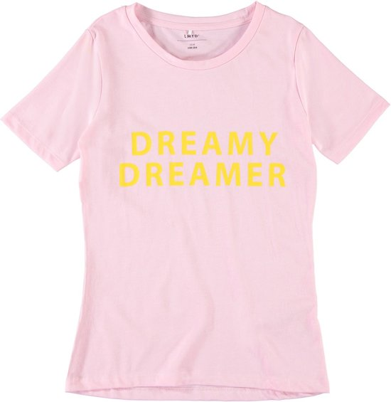 Name it t-shirt meisjes - roze - NLFveenkada - maat 158/164