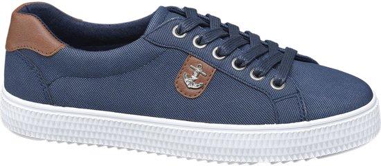 Graceland Dames Blauwe sneaker anker - Maat 43