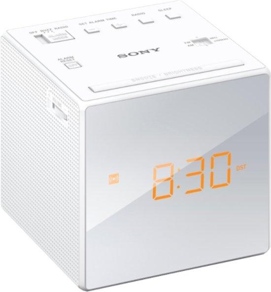 Sony ICF-C1 - Wekkerradio - Wit