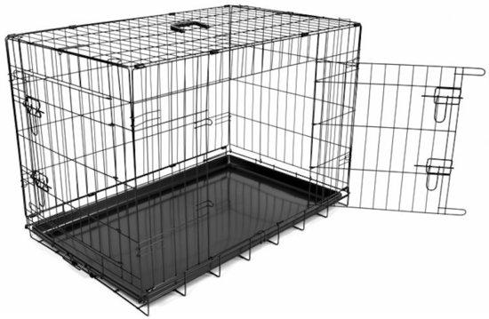 Duvo Hondenbench 2 deurs - 76 x 48 x 54 cm - Zwart