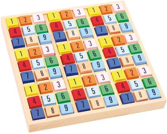 Afbeelding van het spel Small foot Houten sudoku blokken 18 x 18 x 2 cm