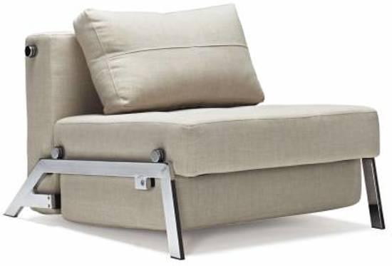 Innovation slaapstoel cubed deluxe rood for Slaap stoel