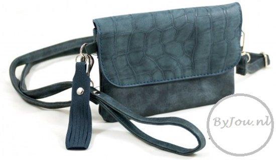 Blauwe Croc clutch / tasje Milaan