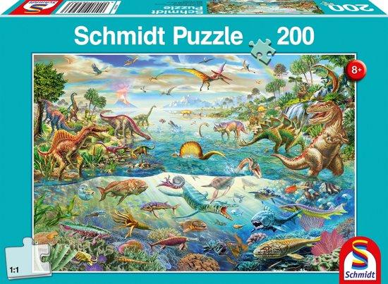 Bolcom Ontdek De Dinosaurussen 200 Stukjes Puzzel Schmidt