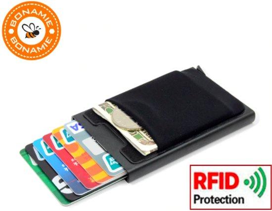 f21eb87b0cc Pasjeshouder Zwart |Aluminium |Creditcardhouder | Portemonnee | RFID | Anti  Skim | Pashouder