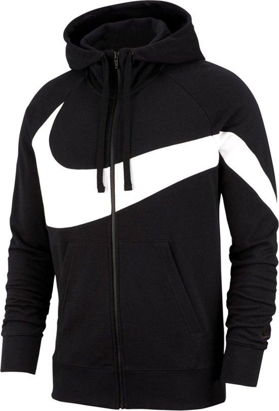 ee3b68ebb9e Nike Sportswear Hoodie Sweatvest Heren Sportvest - Maat L - Mannen -  zwart/wit