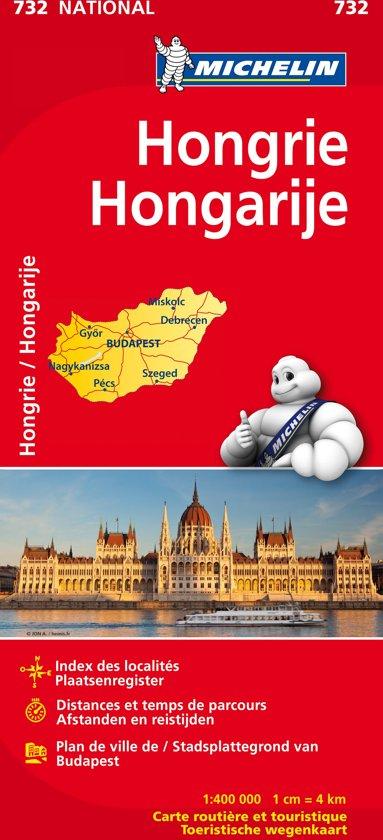 Hongrie / Hongarije 11732 carte ' national ' michelin kaart