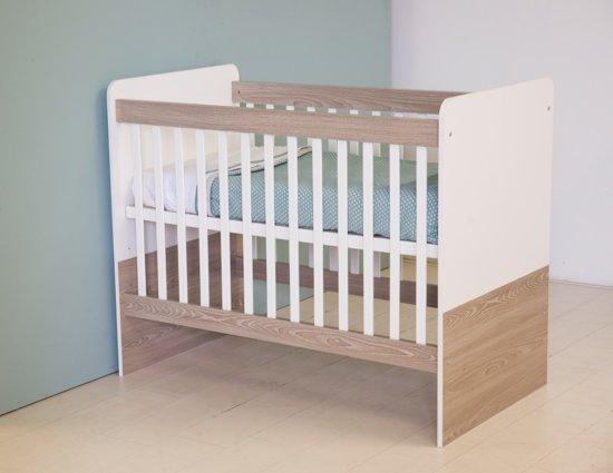 Babykamer Wit Grijs.Bol Com Bebies First Babykamer Lars Ledikant Wit Grijs